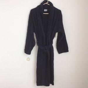 New Women's/Unisex Cotton Soft Robe Navy Sm/Med